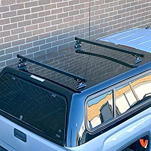 "Universal Pickup Topper M1000 Ladder rack w/ 60"" Bar STEEL Black"