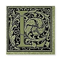 INOV 手紙L第1手紙 モノグラム 絵画 壁飾り アートパネル インテリア 壁キャンバス絵画 壁アート 木枠セット 横40cm*縦40cm*1