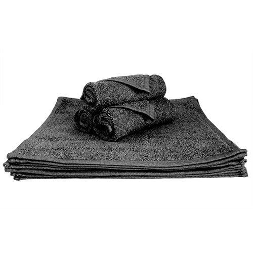 Super Absorbant, épais et moelleux serviette de visage – Idéal pour la maison ou Spa, B & B, Hôtel et Hôtel utilisation – 500 g/m² – 100% coton – 30 cm x 30 cm – Noir