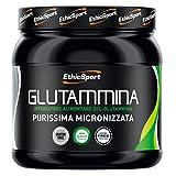 EthicSport - Glutammina - Barattolo da 300 gr - Integratore alimentare di L-Glutammina