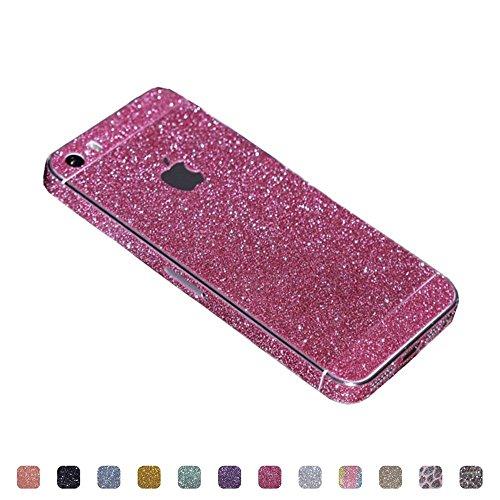 TheSmartGuard Glitzerfolie kompatibel für Apple iPhone 5-5S-SE Folie Schutz Glitzer Glitter Bling Bling im funkelnden Pink
