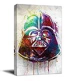 YITUOMO Darth Vader Lienzo decorativo para pared de 40,6 x 60,9 cm, enmarcado de madera, póster de Star Wars de David Prowse para dormitorio de niños y niñas, estirado y listo para colgar