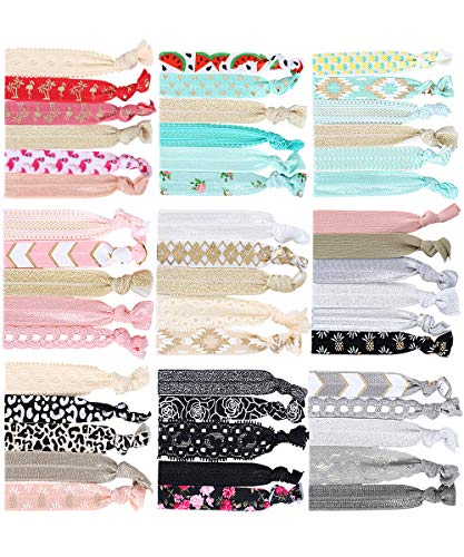 Elastische Haargummi - 49 stücke Elastische Bänder Pferdeschwanz Halter Supersofte Bänder Haarbänder Haarschmuck für Mädchen Damen