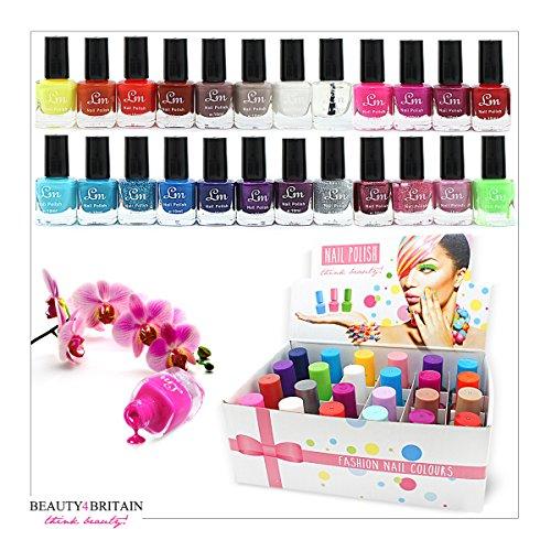 Set di 24 smalti per unghie da 5 ml in 24 differenti colori (set A)