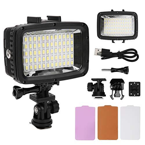 Archuu 40M Luz de Buceo Impermeable SL ‑ 101 5500‑6000K Fotografía Luz de Video LED Luz de Noche de Relleno de Video Impermeable para PC Cámara SLR Luz de Buceo LED para Buceo