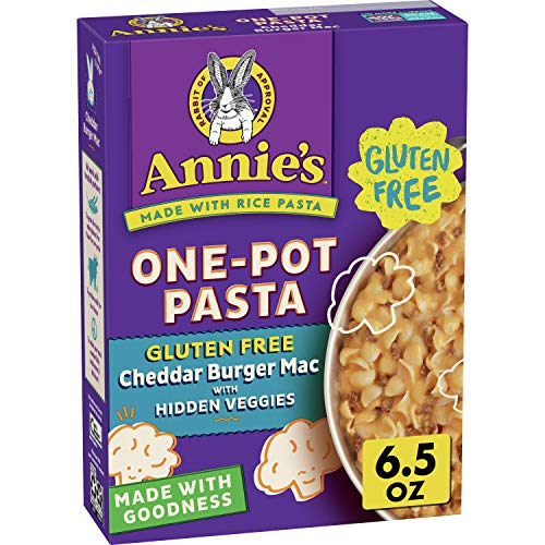 Annie's Homegrown Gluten Free One Pot Pasta - Cheddar Burger Macaroni & Cheese, Pack Of 8