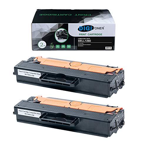 TonerPlusUSA Compatible DELL1260 DELL1265 Toner Cartridge � DELL-1260 DELL-1265 High Yield Toner Cartridge Replacement for DELL Laser Printer � Black [2 Pack]