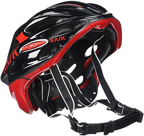 Kask - Mojito 16 - Casco para bicicleta, Adultos , Negro/Rojo, M (52-58 cm)