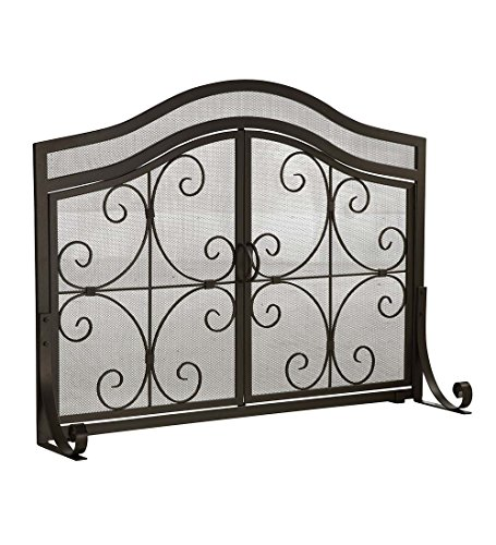 Plow & Hearth Fireplace Screen with Doors