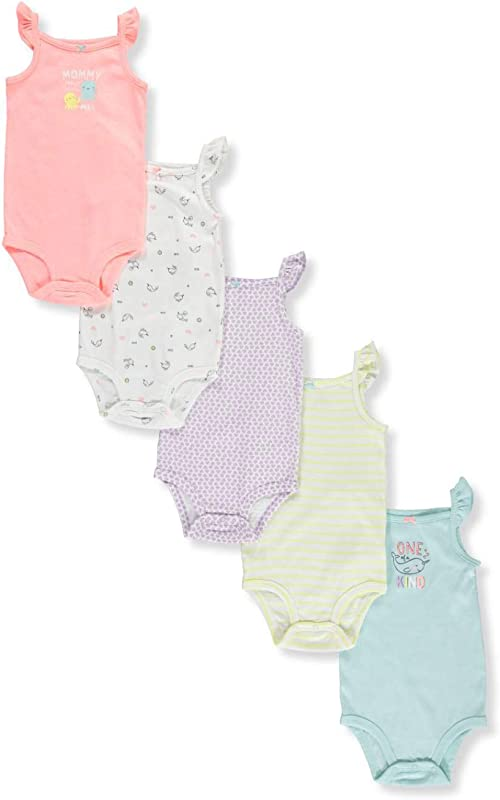 Carter S Baby Girls 5 Pack Bodysuits Baby Kitty Love
