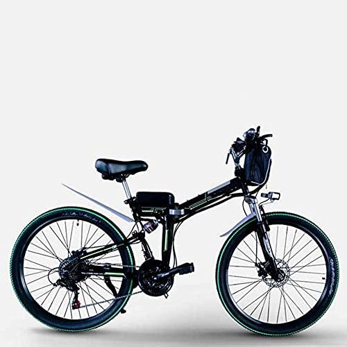 WXDP Autopropulsado Bicicleta de montaña eléctrica Plegable, 350 W / 500 W, 8-15 Ah, 26 Pulgadas, Moda, Bicicleta eléctrica Urbana, Freno de Disco portátil, Adecuado para Hombres, Mujeres, despla