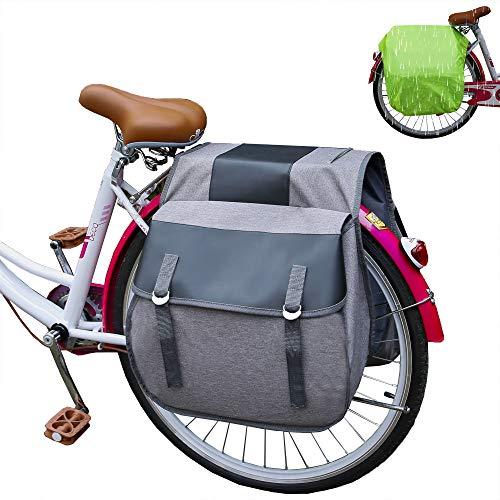 JLDUP Alforja impermeable para el asiento trasero de la bicicleta, bolsa para el maletero...