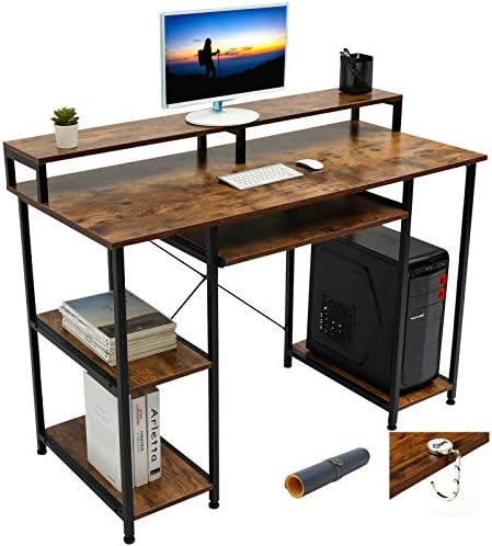 Gome Computer Writing Desk for Home Office 47 Modern Study Work Gaming Desk with Storage Shelves product image