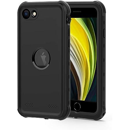 iPhone SE [第2世代] 防水ケース DINGXIN iPhone SE2 指紋認証対応 防水 防雪 防塵 耐震 耐衝撃 IP68防水規格 アイフォンse 2020 防水ケース 防水カバー ストラップホール付き ワイヤレス充電対応 (iPhone SE 2020, 黒)