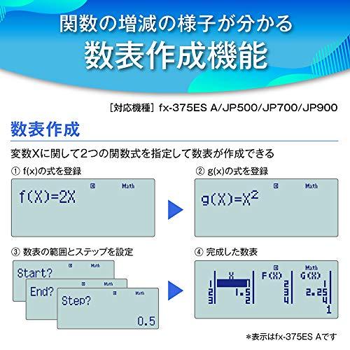 カシオ関数電卓微分積分・統計計算・数学自然表示394関数・機能fx-375ESA-N