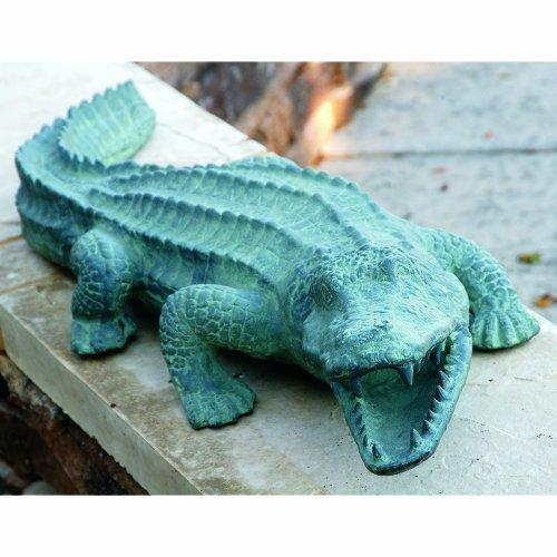 SPI Aluminum Mean Old Alligator Statue