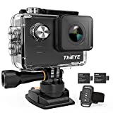 ThiEYE Native 4K Action Camera WiFi Waterproof Sport Video Camera 20MP Ultra-HD 2' IPS Screen with EIS, APP & Voice Control with Remote Control, 170 Wide Angle, Battery and Full Accessories (E7)
