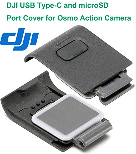 OSMO Action Camera 4K HD Video Cam Digital Waterproof HDR-Video Battery Charging Kit Adhesive Mount Kit Frame Kit Accessories Compatible with DJI OSMO Action Camera (DJI Genuine USB-C Cover)