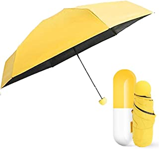 Light Mini Folding Capsule Umbrella Windproof Anti UV Sun