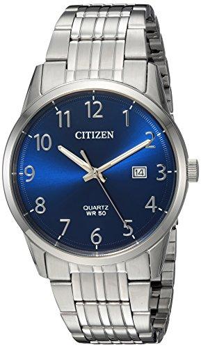 Citizen Men's Quartz Stainless Steel Casual Watch, Color:Silver-Toned (Model: BI5000-52L)