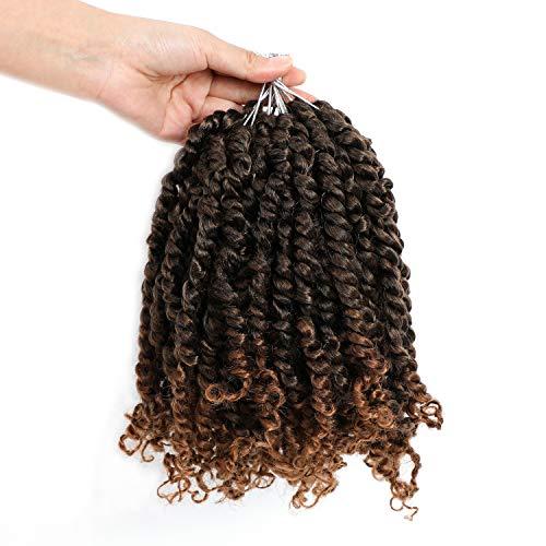 8 Packs 10 Inch Passion Twist Crochet Hair Pre-twisted Pre-looped Braids Hair Bob Spring Twist Hair for Black Womam Hair Extensions (10 inch, T30)