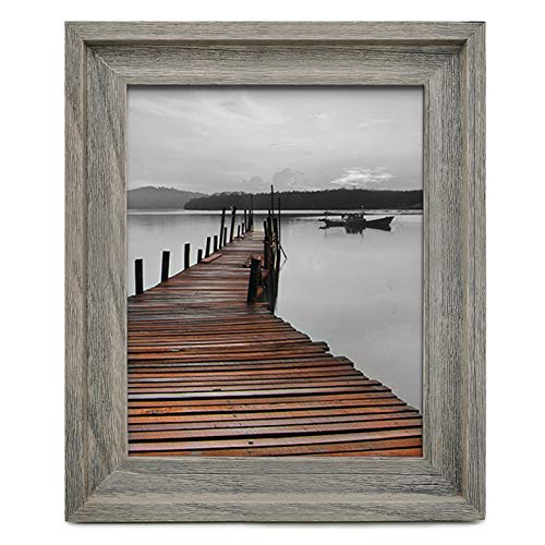 Eosglac Rustic 11x14 Picture Frame, Wooden Frames with Plexiglass Front for Wall Mounting Display, Weathered Gray