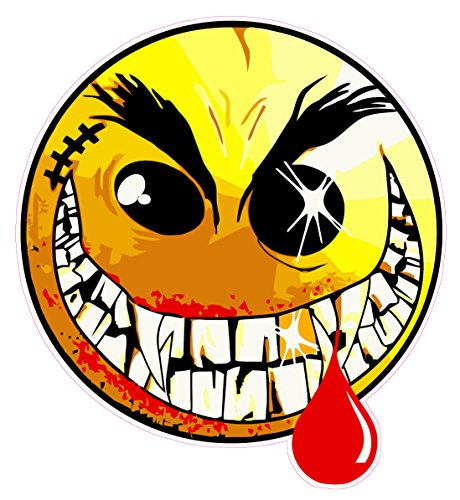 """Nostalgia Decals Evil Smiley Face Decal Large 24"""" in The United States"""