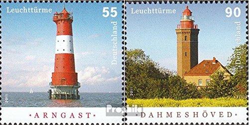 Prophila Collection BRD (BR.Deutschland) 2878-2879 (kompl.Ausg.) 2011 Leuchttürme (Briefmarken für Sammler) Leuchttürme