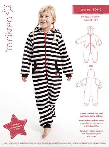 MAGAM-Stoffe Schlafanzug Einteiler Schnittmuster Kinder inkl. Aufnäher Enno