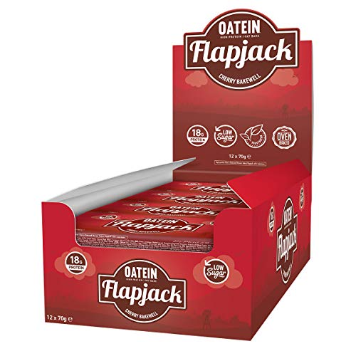 Oatein Protein Flapjack Bar 70g Low Sugar, oat bar (Box of 12) - Cherry Bakewell