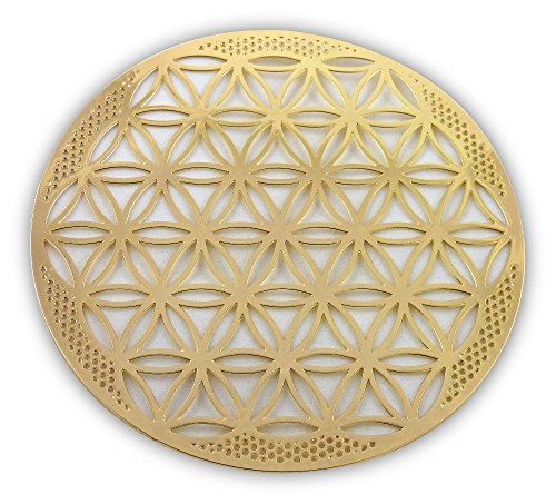 HeartsforLove Flower of Life Gold Plated 4' Grid