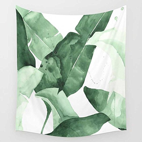 Fresh Banana Leaf Impreso Colgante de pared Arte Tapiz dormitorio Decor