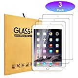 iPad 9.7' Tempered Glass Screen Protector [3-Pack] (2018/2017) / iPad Air 2 / iPad Pro 9.7 in/iPad Air Screen Protector,Apple Pencil Compatible, Anti-Scratch (3pcs)