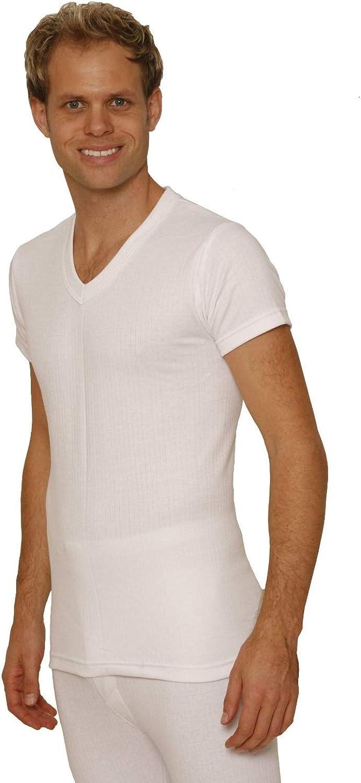 Octave 2 Pack Mens Thermal Underwear Short Sleeve 'V'-Neck T-Shirt/Vest/Top