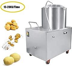 Enshey 33lb-44lb Capacity Commercial Electric Potato Peeler Heavy Duty Automatic Sweet Potato Peeling &Cleaning Machine 1500W Electric Potato Peeler, Ship from USA, 2-4 Days Delivery