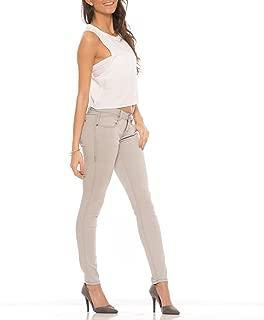 Rubberband Stretch Women's Skinny Jeans (Sarina/Light Grey)