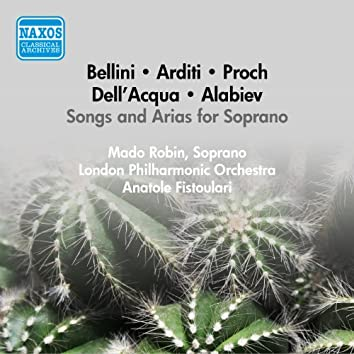 Vocal Recital: Robin, Mado - Bellini, V. / Arditi, L. / Proch, H. / Dell'Acqua, E. / Alabiev, A. (1956)