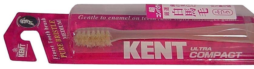 ヘクタールスリップ有効なKENT 白馬毛歯ブラシ 超コンパクトヘッド ふつう KNT-0232 ×5個セット