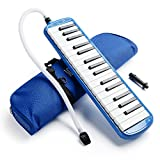 Vangoa 32 Key Melodica Blue Pianica Portable with Carrying Bag, Short and Long Mouthpieces...