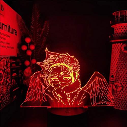 Anime My Hero Academia Hawks lamp Cool 3D Illusion Night Light Home Room Decor Acrylic LED Light Christmas Birthday Gift Lamp(16 Colors with Remote)