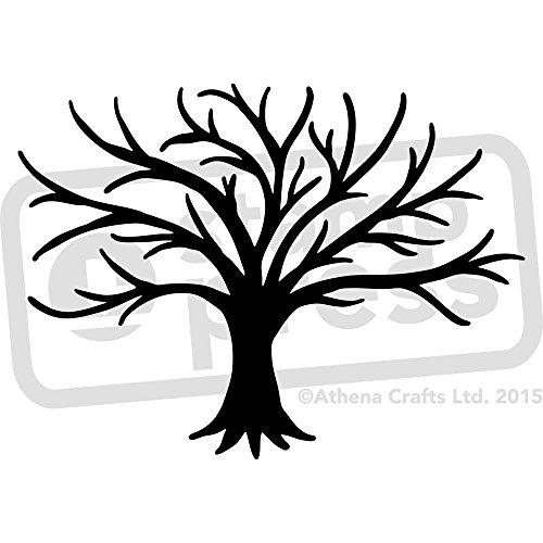 Stamp Press A4 'Kahler Baum Silhouette' Wandschablone / Vorlage (WS00010579)