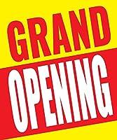 Grand Opening ビジネスリテールディスプレイサイン 18インチ x 24インチ フルカラー 5パック