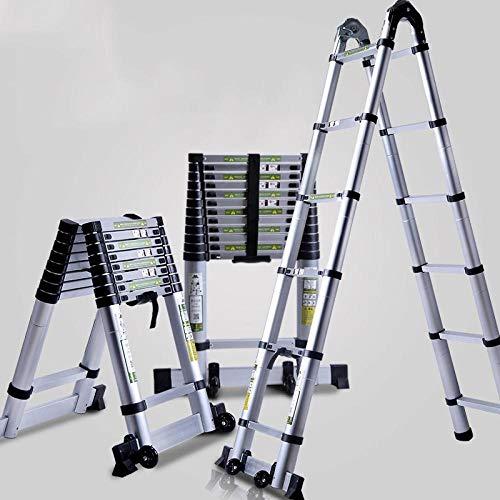 Escalera Multifunción Plegable,Escalera Articulada con Plataforma ,Escalera elevadora plegable multifuncional,proyecto de espiga de aleación de aluminio grueso telescópica,escalera simple 2.6 metros