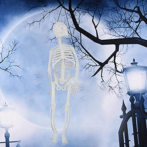 JSBVM 3 Piezas de Decoración de Esqueleto Brillante de Halloween, Juguetes de Terror de Halloween, Esqueleto Luminoso Adecuado para Casas Embrujadas, Escenas de Cementerio, Fiestas de Halloween
