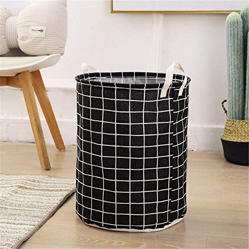 Foldable Dirty Clothes Laundry Basket Organizer Kids Toys Holder Waterproof Hamper Home Sundries Bucket Storage Basket Container (Color : J)
