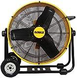 DEWALT DXF-2490 High-Velocity Industrial, Drum, Floor, Barn, Warehouse Fan, Heavy Duty Air Mover with Adjustable Tilt &...