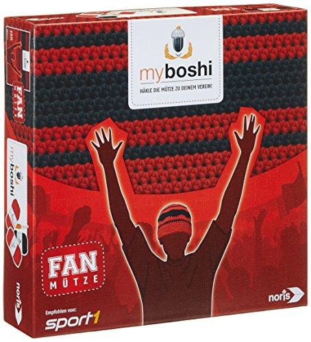 Noris Spiele 606311349 My Boshi, Fan Mütze In Den Vereinsfarben rot schwarz