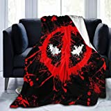 Lstardust Dead-Pool Soft Fuzzy Light Weight Warm Blanket for Bed Couch Chair Fall Winter Spring Living Room Multiple Sizes,80'' x60