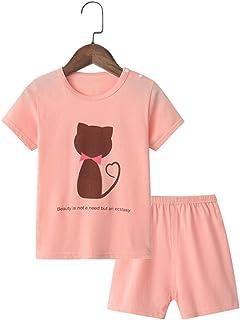 Conjuntos Bebés Niños Niña, Morbuy Pequeño Niño Bebé Ropa Niños Pijama de Dibujos Animados Camiseta