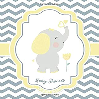 Baby Shower Guest Book: Elephant Baby Shower Sign In Guestbook + BONUS Gift Tracker Log + Welcome Baby Keepsake Pages | Grey and Yellow